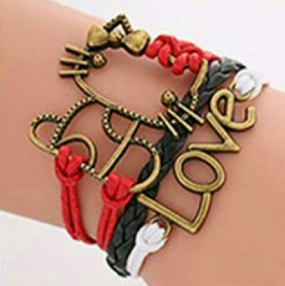 Jewelry - BRAND NEW RED WHITE BLACK MULTI LAYER BRACELET